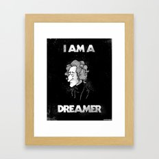 I am a Dreamer - Lennon Illustration Framed Art Print