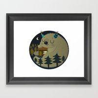 Home is where the monsters are Framed Art Print