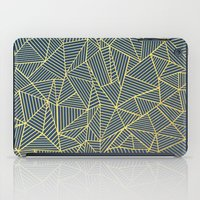 Ab Lines Gold and Navy iPad Case
