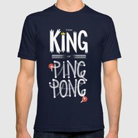 The King Of Ping Pong Mens Fitted Tee Navy SMALL
