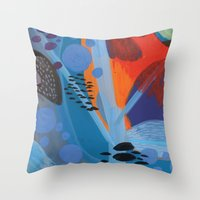Drops II Throw Pillow