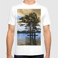 Cypress Trees Mens Fitted Tee White SMALL