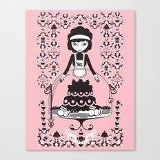 Lady Cake Canvas Print