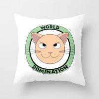 World Domination III Throw Pillow