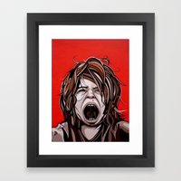 I Hate You Times Infinity Framed Art Print