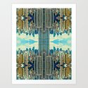 NYC in patterns Art Print
