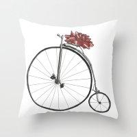Christmas Bicycle Throw Pillow