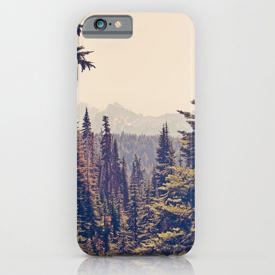 Mountains through the Trees iPhone & iPod Case