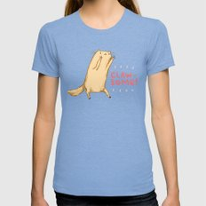 Clawsome! Womens Fitted Tee Tri-Blue SMALL