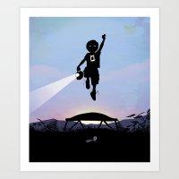 Green Lantern Kid Art Print