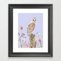 Meadow Barn Owl Framed Art Print