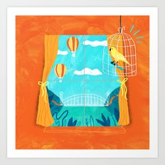 The Sight Of Bridges And… Art Print
