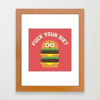 Discounting Calories Framed Art Print