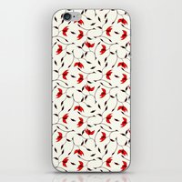 Strange Red Flowers Patt… iPhone & iPod Skin