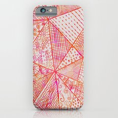 Circle Of Life - pink & orange iPhone 6 Slim Case