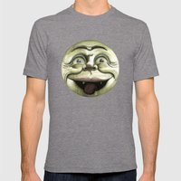 Rad Moon Rising Mens Fitted Tee Tri-Grey SMALL