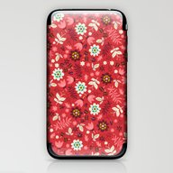 Fresh Blossoms (Reds) iPhone & iPod Skin