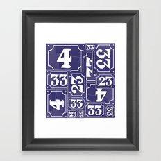 Enamel Number Plates Framed Art Print