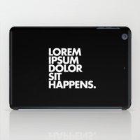 LOREM IPSUM DOLOR SIT HA… iPad Case