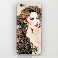 Woman With Long Hair  iPhone & iPod Skin