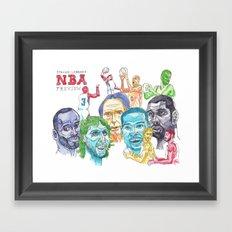 Steven Lebron's NBA Western Conference Preview Framed Art Print
