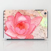 pink waterlily. floral photo art. iPad Case