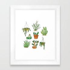 succulent pots Framed Art Print