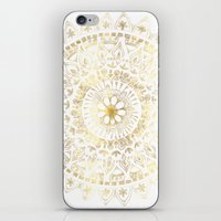 Gold Hand Drawn Mandala iPhone & iPod Skin