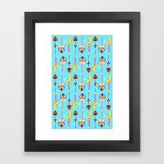 wand pattern  Framed Art Print