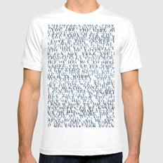 Sentences of Love White SMALL Mens Fitted Tee