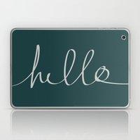 Hello x Dark Turquoise Laptop & iPad Skin