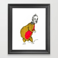 Hood Rat Framed Art Print