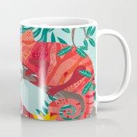 The Red Chameleon  Mug