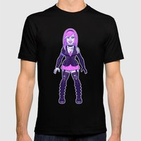 Goth Girl Mens Fitted Tee Black SMALL