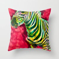 Mr. Zebra Throw Pillow