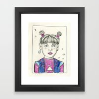 Super Nova Girl Framed Art Print