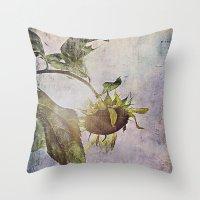 Rural Sky Sunflower Throw Pillow
