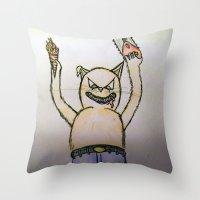 Killer Cat Throw Pillow