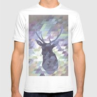 Deer Mens Fitted Tee White SMALL
