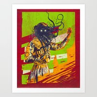 Mad scientist Art Print