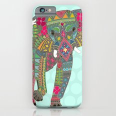 painted elephant aqua spot iPhone 6s Slim Case