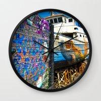 Old Sicilian Port Of Alc… Wall Clock