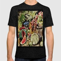 CRAYON LOVE - Fruit Mens Fitted Tee Tri-Black SMALL