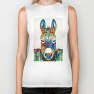 Colorful Donkey Art - Mr… Biker Tank