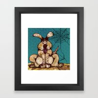 In a game of Catch, the Spider always wins. Framed Art Print
