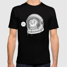 One Small Step, One Giant Ape Mens Fitted Tee Black SMALL