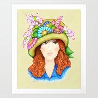 Derby Girl II Art Print