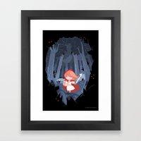 Little Red Fighting Hood Framed Art Print