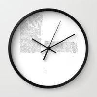 Erosion & Typography 4 Wall Clock