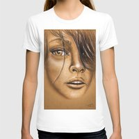 Amazon Womens Fitted Tee White SMALL